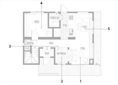 합리적인 건축비로 집짓기 이미지 3 Floor Plans, House Design, Flooring, How To Plan, Interiors, Blue, Little Cottages, Hardwood Floor, Interieur