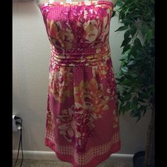 Maurices dress sz L. Cute colorful strapless floral dress. 100%cotton. More pictures are available in a separate listing. Please see all pictures before buying. Maurices Dresses
