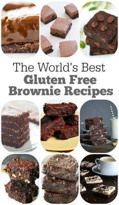 Worlds best gluten free brownie recipes- 12 of them!