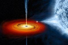 Como seria orbitar um buraco negro?