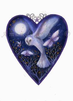 Earth Angels Art. Art and Illustrations by Amanda Clark: New 'Heart' prints.