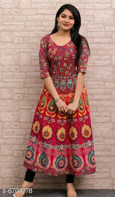 Checkout this latest Kurtis Product Name: *Women's Printed Cotton Anarkali Kurti* Fabric: Cotton Sleeve Length: Three-Quarter Sleeves Pattern: Printed Combo of: Single Sizes: XL, XXL, Free Size Country of Origin: India Easy Returns Available In Case Of Any Issue   Catalog Rating: ★4.1 (1510)  Catalog Name: Aagyeyi Sensational Kurtis CatalogID_1068835 C74-SC1001 Code: 663-6704778-309
