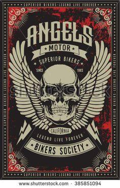 Motorcycle vintage graphics, Road Trip, Biker T-shirt, t-shirt graphic, Motorcycle Emblem - stock vector
