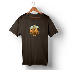 Arches National Park on Unisex Brown T-shirt – Anderson Design Group