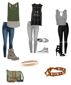 """Untitled #51"" by cariwhitman on Polyvore featuring Paige Denim, Elizabeth and James, Miss Selfridge, Timberland, Vans, Chanel, L'Autre Chose and Chan Luu"