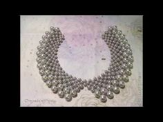 DIY: Beaded collar ❤ How to make jewelry [ENG] - YouTube