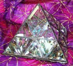 A fabulous crystal pyramid for charging all your magickal items.
