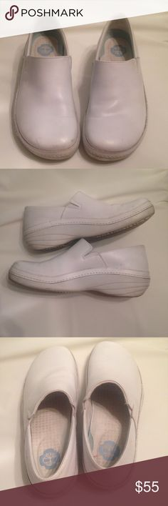 Timberland white nursing shoes size 8. OBO Timberland Pro Series (Pro 153) white nursing shoes.  Size 8 Anti fatigue.  May need a good scrub Good condition. Lots of life left.  Slip on shoes Timberland Shoes Mules & Clogs