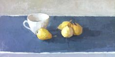 Yellow Pears#still-life#painting#oil on linen