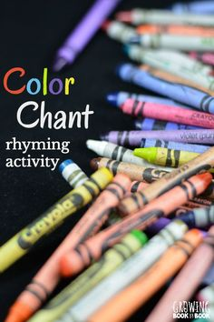 A super easy to prep rhyming activity that also works on color recognition. Perfect for a color themed unit in preschool.