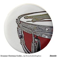 Drummer Christmas Cookie Drum Stocking Stuffer