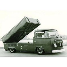 Single cab bay window with a dump bed?  Yes, I would sell one of my kidney's for this, thank you.