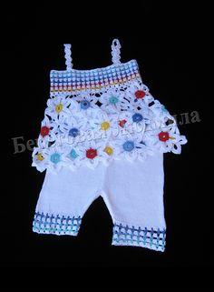 Одежда для девочек, ручной работы. Ярмарка Мастеров - ручная работа. Купить Комплект для девочки Цветочная поляна. Handmade. Разноцветный