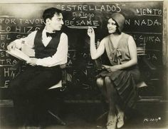 Buster Keaton and Raquel Torres