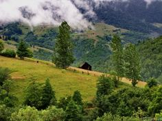 Entre as nuvens em Rucăr, no distrito de Argeş, região de Muntênia, Romênia.  Fotografia: Sebastian Petrescu.