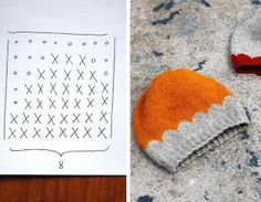 Scalloped knitting pattern by Maria Carlander