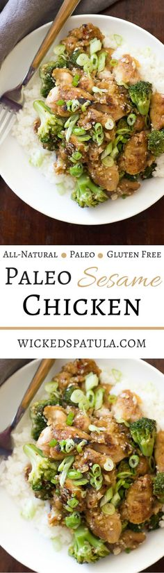 Paleo Sesame Chicken - Ready in under 30 minutes this Chinese classic will satisfy any take-out craving!