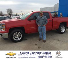 https://flic.kr/p/C6BVym | Happy Anniversary to David on your #Chevrolet #Silverado 1500 from Neal Carpenter at Central Chevrolet Cadillac! | deliverymaxx.com/DealerReviews.aspx?DealerCode=A020