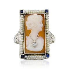 1950's Vintage Shell Cameo ring