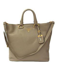 83b4834ead32c PRADA SHOPPING bag VITELLO DAINO in Argilla BN1713 Shopping Bag