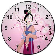 Mulan Clock by SilhouettesbyMarie.deviantart.com on @DeviantArt