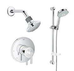 Buy the Grohe Starlight Chrome Direct. Shop for the Grohe Starlight Chrome Timeless Thermostatic Shower System Multi-Function Shower Head, Hand Shower, Slide Bar & Rough-in Valve Included and save.