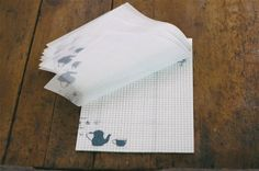 Classiky Glassine Paper Graph Notepad - Tea time by niconecozakkaya on Etsy