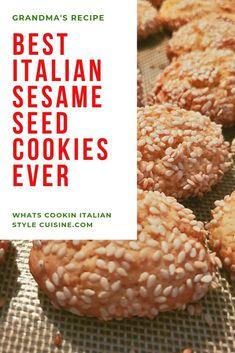 Best Italian Sesame Seed Cookies – Famous Last Words Italian Sesame Seed Cookies, Italian Rainbow Cookies, Italian Cookies, Sesame Seed Cookie Recipe, Sesame Recipes, Italian Cookie Recipes, Italian Desserts, Italian Foods, Love