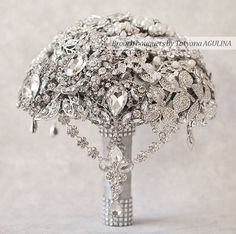 FULL PRICE! The Great Getsby Crystal wedding brooch bouquet, Jeweled Bouquet. Ready to ship