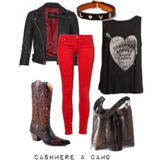 """""""Red Boot Diaries"""" by cashmereandcamo on Polyvore"""