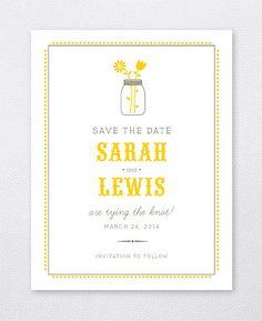 A Marvelous Modern Cheree Berry Paper Wedding Invitation
