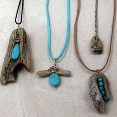 instagram profile Driftwood Jewelry, Driftwood Crafts, Wooden Jewelry, Sea Glass Jewelry, Wire Jewelry, Jewelry Crafts, Jewelry Art, Jewelery, Handmade Jewelry