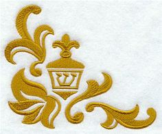 Machine Embroidery Designs at Embroidery Library! - Damask Borders & Corners