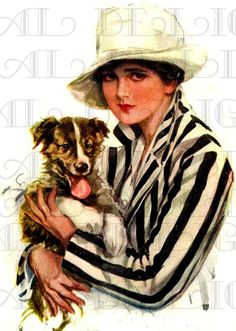 Lovely EDWARDIAN Lady and Her Adorable by DandDDigitalDelights