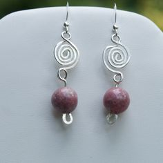 Sterling Silver Rhodondite Earrings SOLD