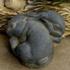 Nesting Bunnies Garden Statue | www.gardenstatueshop.com