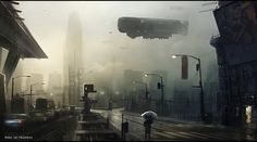 i like the idea of having some kind of bloated hoverships that act as overbearing sentinels for the government.