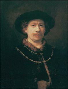 Self-portrait - Rembrandt -1643 @ Thyssen Bornemisza Museum
