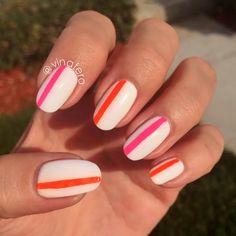 My Mod Fluorescent Stripe Nails
