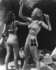 Image result for retro woolen bikini