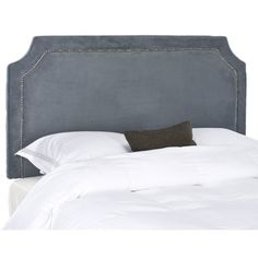 @Overstock.com - Safavieh Shayne Grey Full/ Queen Headboard  - Stylish and sophisticated, this modern queen headboard is just the thing to update the look of your bedroom. It is covered in polyester fabric for easy care, and the rich dark color will coordinate with a wide variety of bedroom decors.  http://www.overstock.com/Home-Garden/Safavieh-Shayne-Grey-Full-Queen-Headboard/7348245/product.html?CID=214117 $202.49