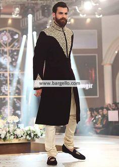 #Menswear #Bespoke #Sherwani in Velevet with #churidar pajama Conspicuous Velvet Sherwani Suit for Wedding