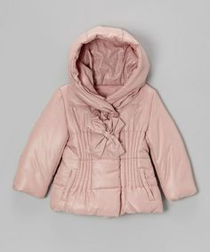 Take a look at this Pink Bow Hooded Puffer Coat - Toddler & Girls by Funkyberry on #zulily today!