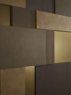 Metal Wall Texture Inspiration Decorating - The Best Image Search Interior Walls, Interior Design, Casa Milano, Wall Panel Design, Wall Cladding, Wall Panelling, Wall Finishes, Decorative Panels, Wall Patterns