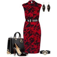 Etcetera Pencil Dress Fall 2013, created by kginger on Polyvore