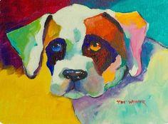 Pat Weaver   WATERCOLOR   Bulldog