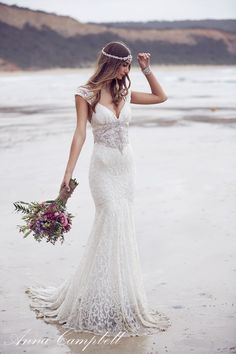 casamento de dia praia campo anna campbell tendência casar vestido de noiva brilho bordado chic