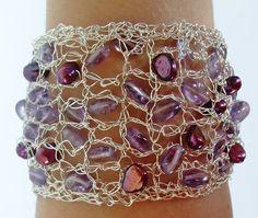 Hey, I found this really awesome Etsy listing at https://www.etsy.com/listing/130889147/amethyst-cuff-bracelet-wire-cuff-purple