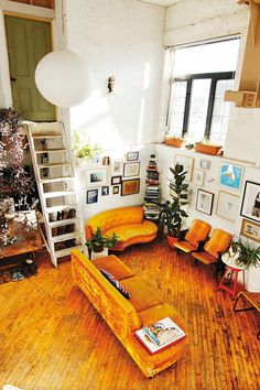 10 Best Loft Spaces | Mustard sofa, Mustard and Lofts
