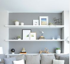 idea for wall shelves for niches in the wall